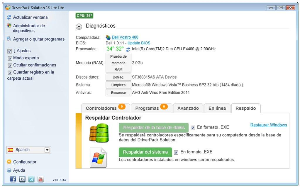 يستطيع اسطوانه تعريفات Driver Pack Solution للكمبيوتر الكشف عن التعريفات