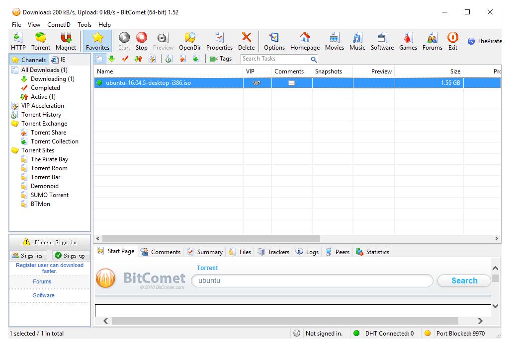 مجانية برنامج BitComet