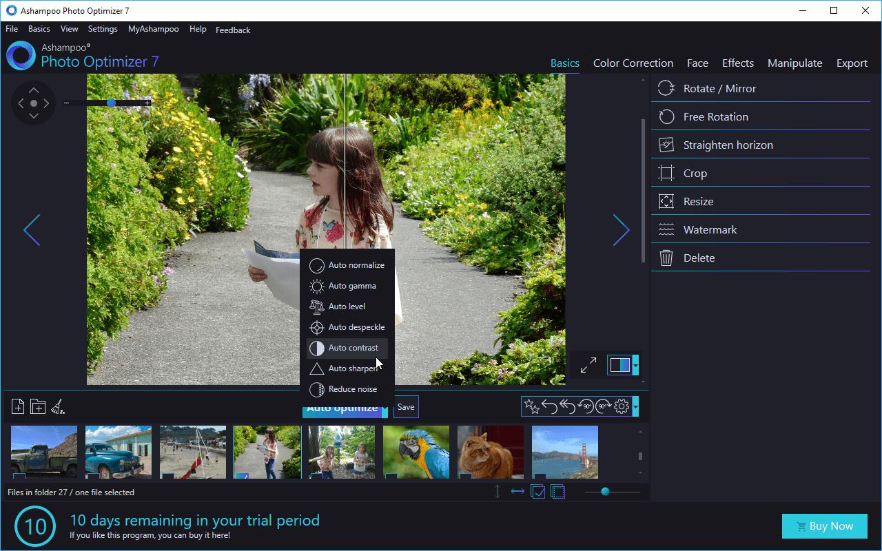 سهولة إستخدام برنامج قص الصور Ashampoo Photo Optimizer