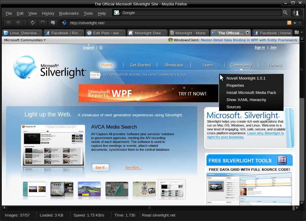 مجانية برنامج سيلفر لايت Microsoft Silverlight