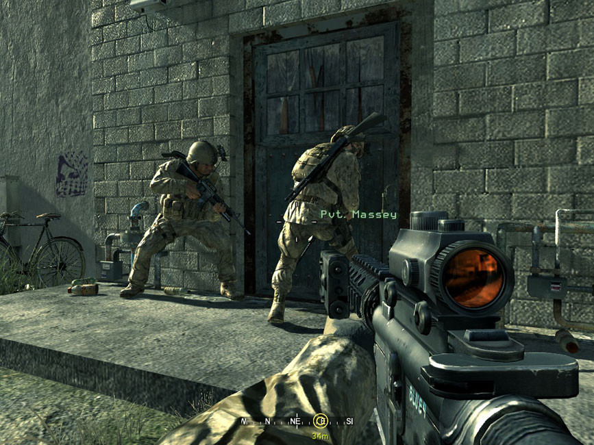 الاكشن في لعبة Call of Duty 4 Modern Warfare