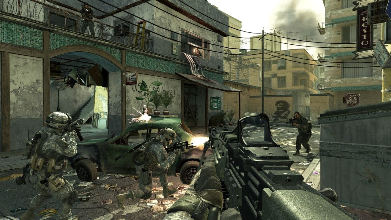 التصويب في لعبة Call of Duty 4 Modern Warfare