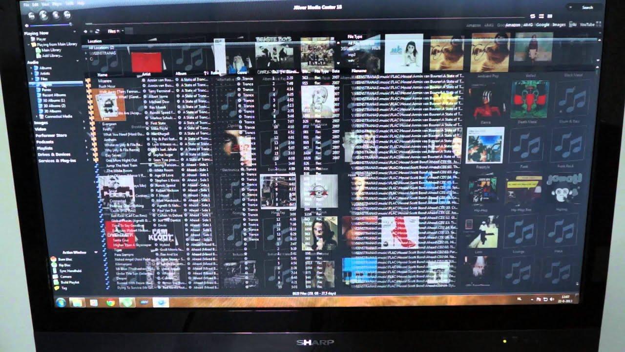 الواجهة بسيطة في برنامج JRiver Media Center لتشغيل الميديا للكمبيوتر