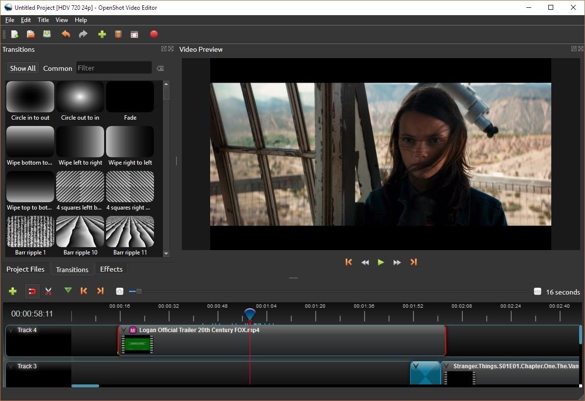 قدرة برنامج اوبن شوت Openshot Video Edi علي التحكم بالصوتيات