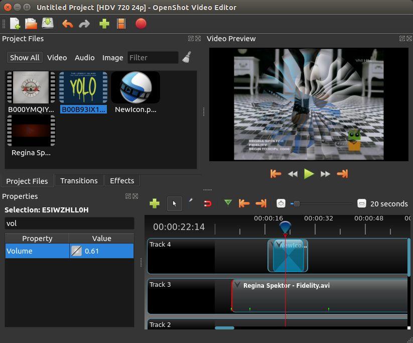 قدرة برنامج Openshot Video Editor للكمبيوتر علي تحويل صيغ الفيديو
