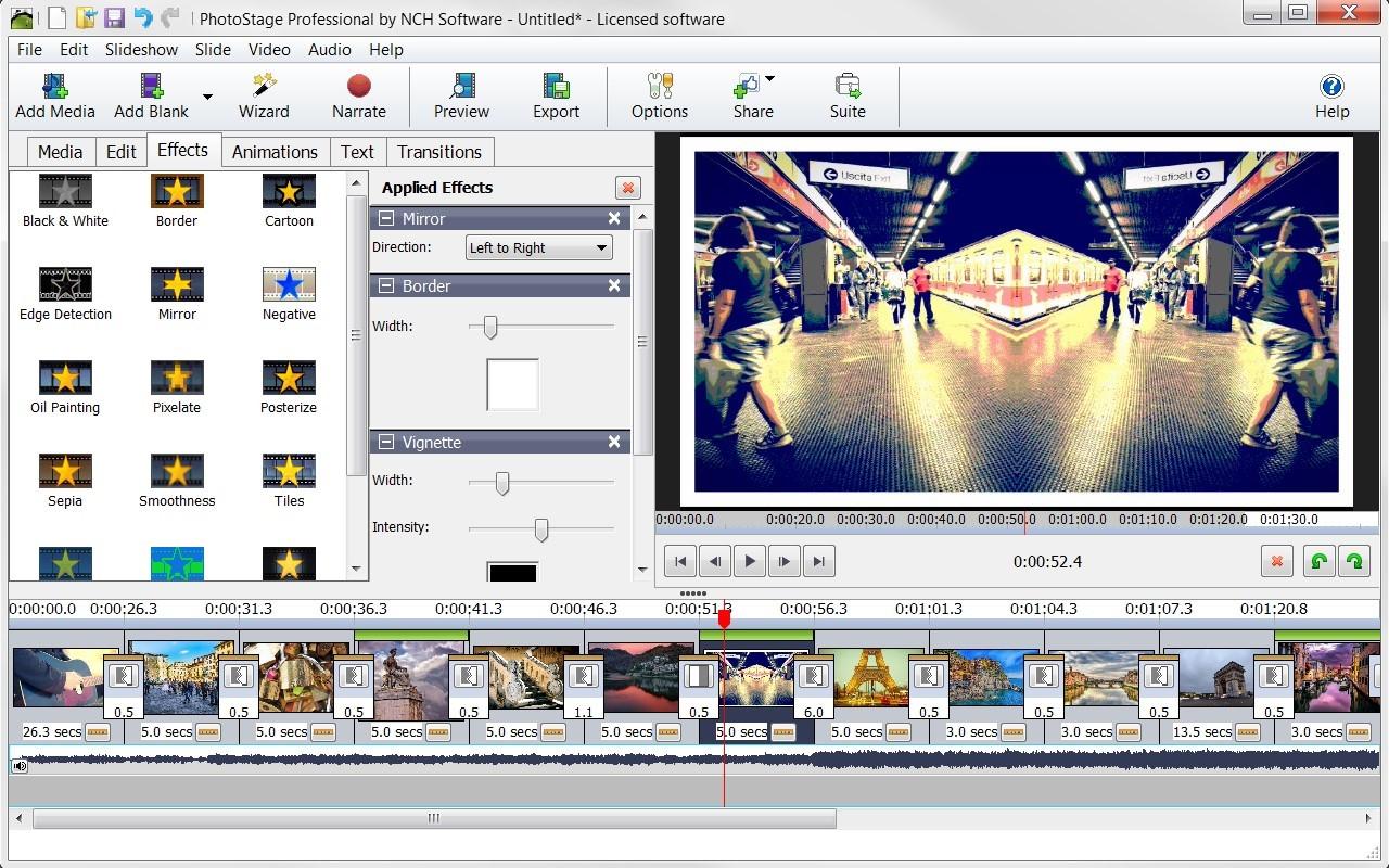 ميزة اضافة المقاطع الصوتيه في برنامج PhotoStage Slideshow لعمل فيديو من الصور مع اغنية