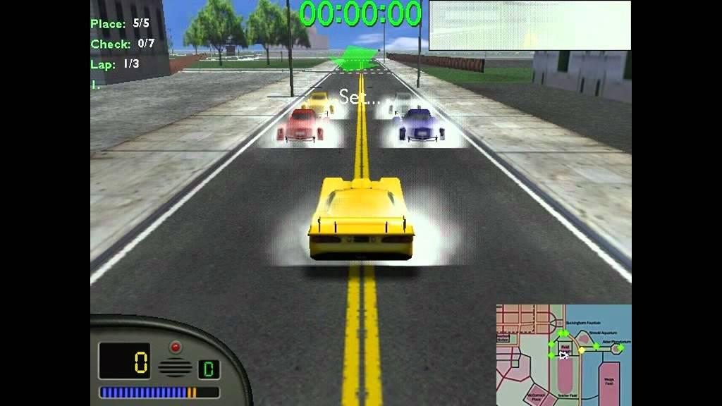 بساطة لعبة سيارات المدينة القديمة للكمبيوتر