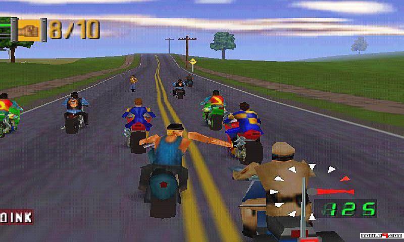 التحكم في الدراجه من خلال لعبة موتوسيكلات رود راش للكمبيوتر