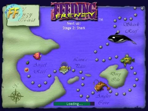 العديد من العناصر في لعبة Feeding Frenzy 2 السمكه