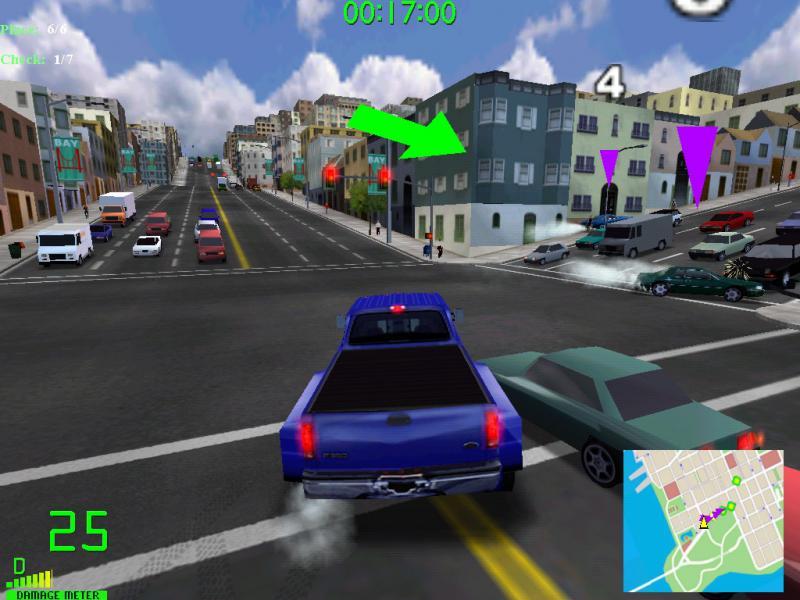 بساطة متطلبات التشغيل في لعبة Midtown Madness 2 سيارات المدينه للكمبيوتر