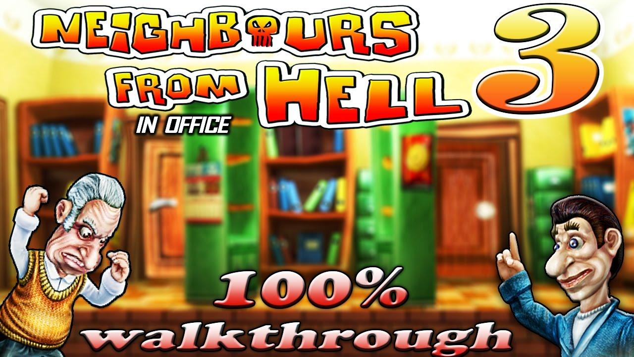 تنوع المقالب في لعبة 3 neighbours from hell للكمبيوتر
